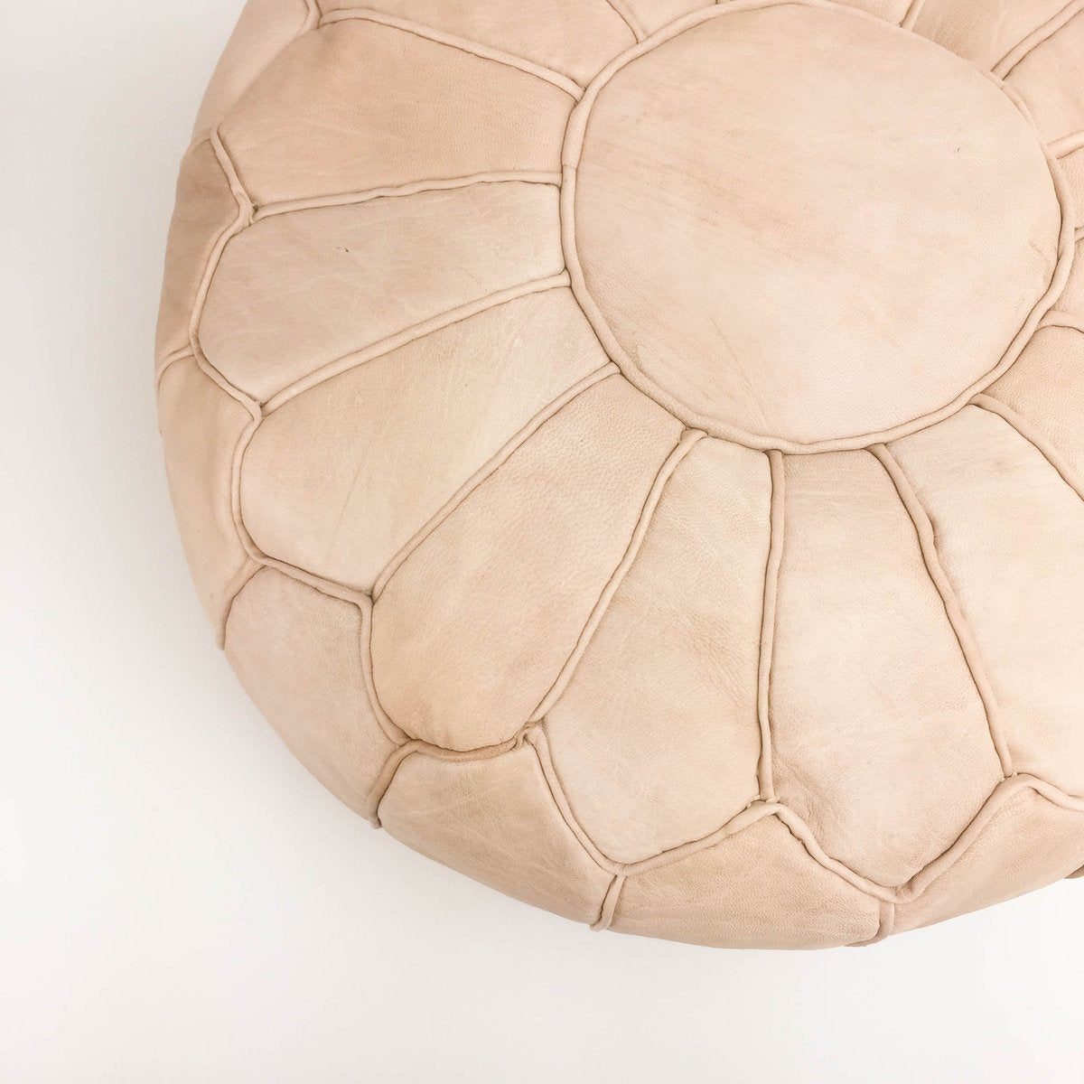 Amina Leather Moroccan Pouf