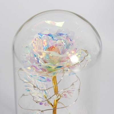 The Original 24K Enchanted Galaxy Rose, Mothers Day Mom Glass Dome Beauty and Beast