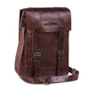 Vintage Brown Leather Tablet Laptop Satchel Bag