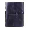 Plain Dark Blue Leather Journal Notebook