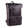 Full Grain Genuine Brown Leather Backpack Bag