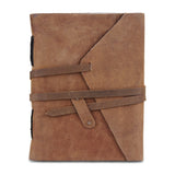 Plain Light Brown Leather Journal Notebook