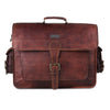 Leather Briefcase Messenger Bag For Men 18 inch