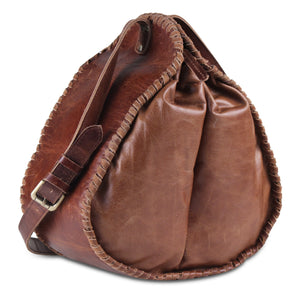 Genuine Full Grain Brown Bucket Bag with Adjustable Strap