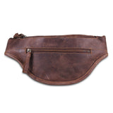 Brown Leather Fanny Waist Bag with Adjustable Strap