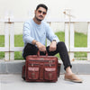Genuine Leather Messenger Briefcase Bag