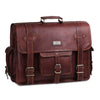 Vintage Leather Satchel Laptop Bag For Men - 18 inches