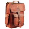 Side View Leather Messenger Bag Brown