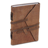 3D view of Plain Light Brown Leather Notebook Journal