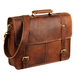 Leather Messenger Bag 15 inch