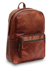 Water Resistant Brown Leather Backpack Bag