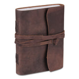 Leather Plain Textured Note Journal Book- Brown