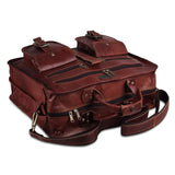 Leather Laptop Briefcase Messenger Bag with Quality Zippers