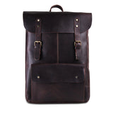 Front View of Genuine Buffalo Leather Backpack Bag