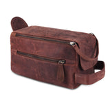 3D view of Genuine Leather Brown Toiletry bag