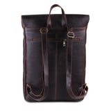 Genuine Buffalo Leather Messenger Bag with Top Handle and  Adjustable Strap