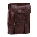 Vintage Leather Brown Messenger Satchel Bag