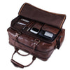 Genuine Buffalo Leather Briefcase Duffle Bag- 17 inch