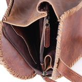 Brown Bucket Bag with High Quality Zippers
