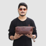 Brown Toiletry Bag For Men