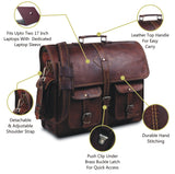 Features of Full Grain Leather Messenger Bag