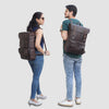 Genuine Full Grain Buffalo Leather Travel College Backpack