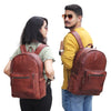 Models With Water Resistant Leather Backpack Bag
