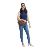 Model With Full Grain Leather Fanny Bag