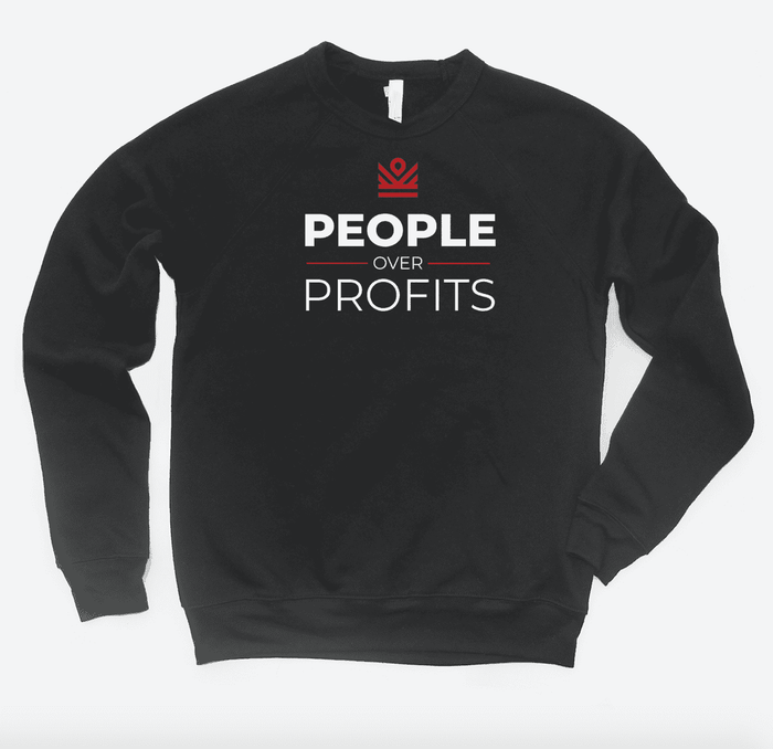 people over profits - crewneck