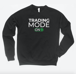 trading mode on - crewneck