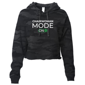 chairwomen mode on cropped hoodie