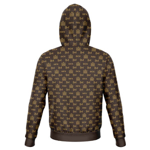 im academy monogram hoodie - brown [limited quantities]