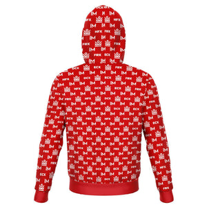im academy monogram hoodie - red [limited quantities]