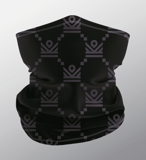 im crown monogram neck gaiter face mask - black [limited quantities]
