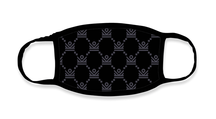 im crown monogram premium face mask - black