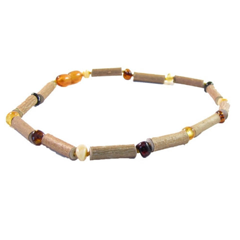 Hazelwood and Multi Amber Infant Necklace