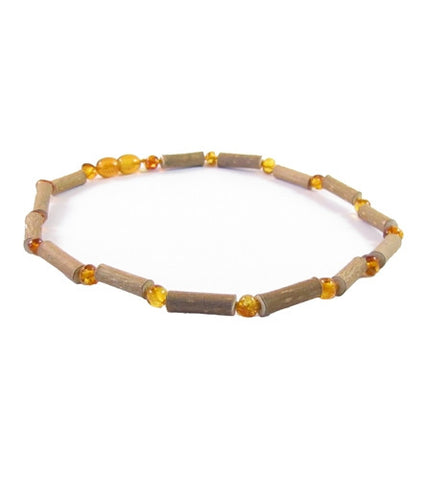 Hazelwood and Honey Amber Infant Necklace