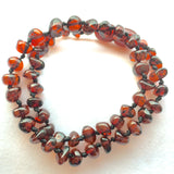 Amber Teething Necklace - Chestnut Color