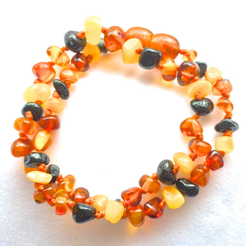 Amber Teething Necklace - Multi Color