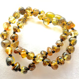 Amber Teething Necklace - Pear