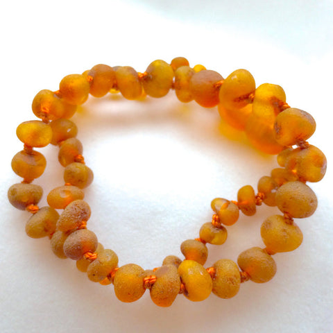 Amber Teething Necklace - Raw Cognac
