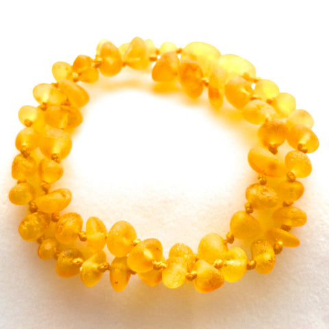 Amber Teething Necklace - Raw Honey