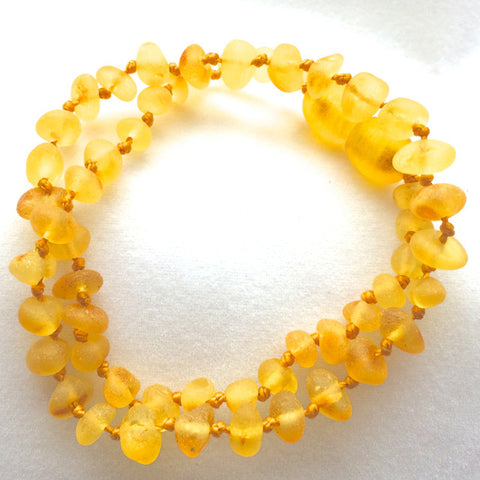 Amber Teething Necklace - Raw Lemon