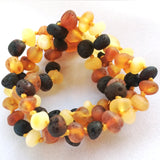 Raw Multi Amber Teething Necklace