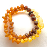 Amber Teething Necklace - Raw Rainbow Round