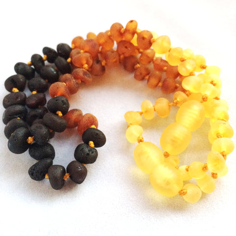 Raw Rainbow Amber Teething Necklace