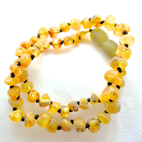 Amber Teething Necklace - Raw Pear