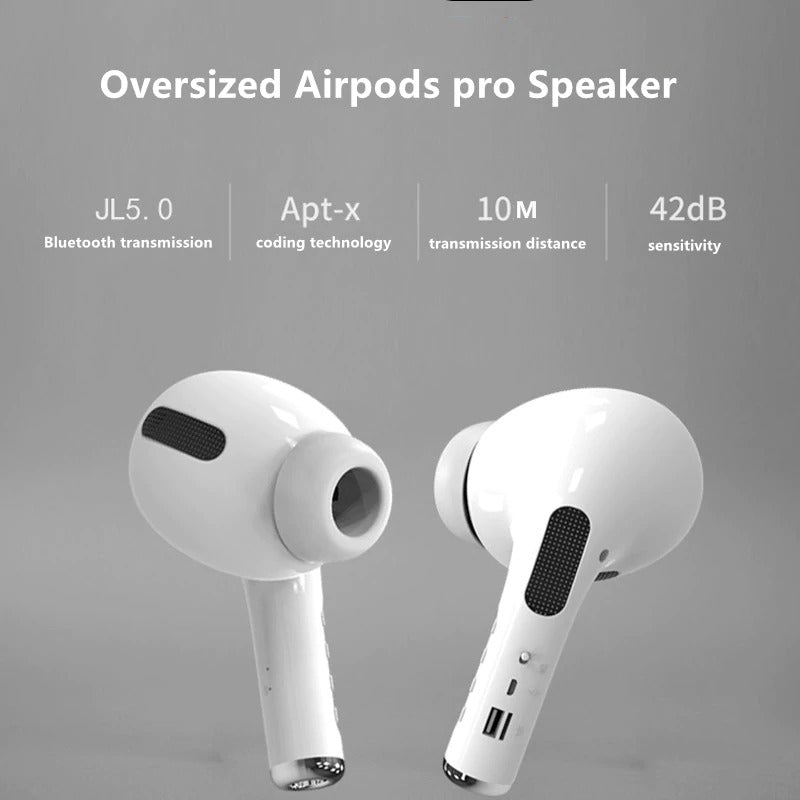 GIANT PODS - AIRPODS SHAPED PORTABLE BLUETOOTH SPEAKER - Regal Shopper