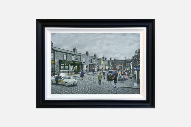 'On the Cobbles' By Leigh Lambert - Deluxe Canvas Edition