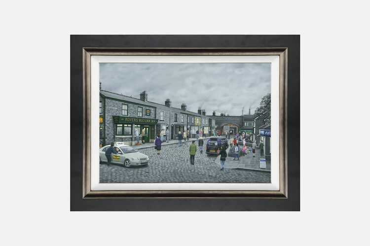 'On the Cobbles' by Leigh Lambert - Standard Canvas Edition